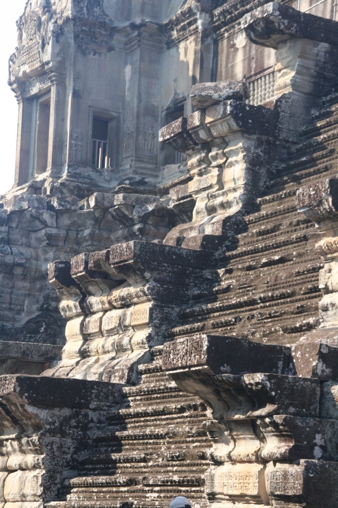 Angkor Wat - stairs to Level 3