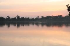 Man-made lake near Angkor