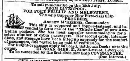 Covenanter 10 Jul 1852